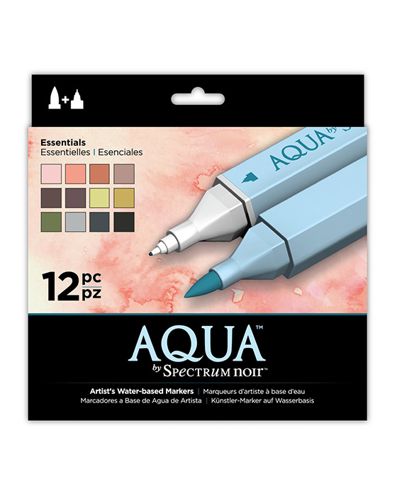 Spectrum Noir Aqua Pens 12pc Set - ESSENTIALS