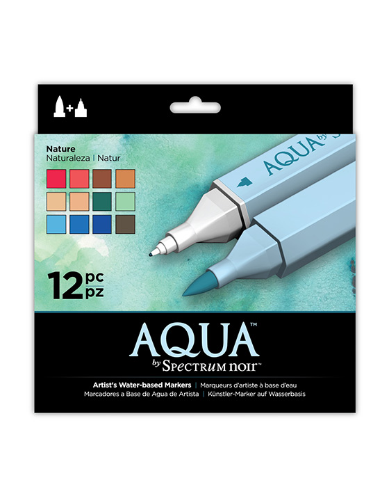 Spectrum Noir Aqua Pens 12pc Set - NATURE