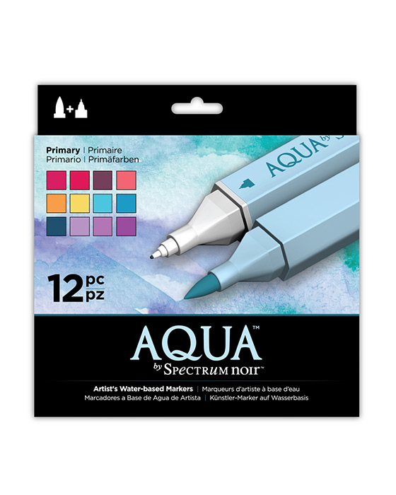 Spectrum Noir Aqua Pens 12pc Set - PRIMARY